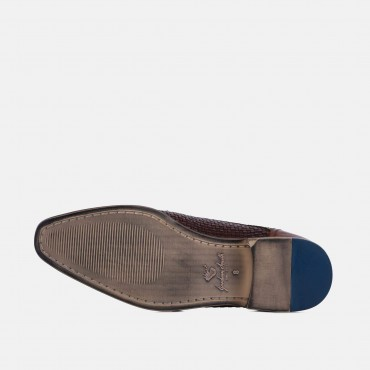 Men's Footwear GoodwinSmith Mens Luis Two Tone Tan Woven Monk Strap £80.00