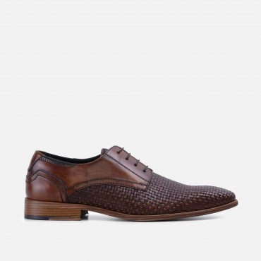 New Arrivals - SS20 GoodwinSmith Mens Nicolas Two Tone Tan Woven Derby £75.00