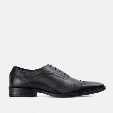 Bucking Good Shoes GoodwinSmith Albany Black Winged Toe Leather Oxford Shoe £45.00