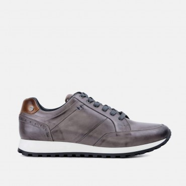 Last 5 pairs remaining! All prices reduced! GoodwinSmith Canvey Grey Smart Leather Casual Trainer £35.00