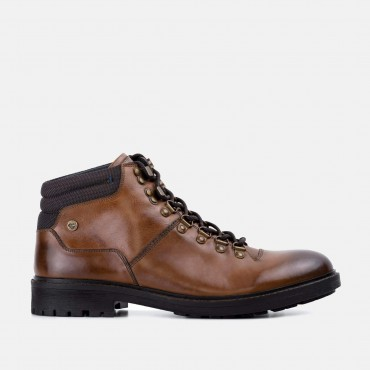 Bucking Good Shoes GoodwinSmith Tremont Tan Hiker Inspired Leather Boot £60.00