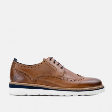 Last 5 pairs remaining! All prices reduced! GoodwinSmith Ripley Tan Casual Leather Brogue Shoe £50.00