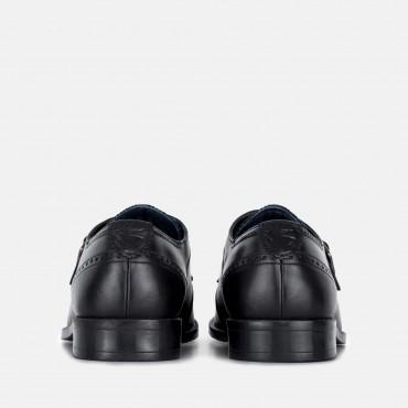 Men's Monk Strap Shoes GoodwinSmith Parker Black Leather Monk Strap Shoe £45.00