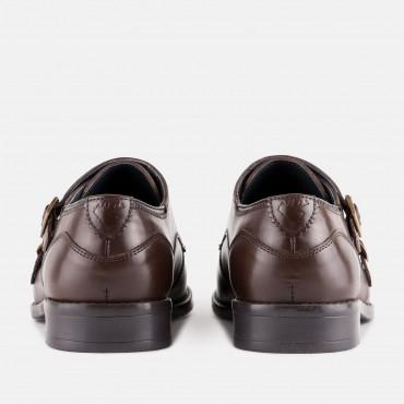 Men's Monk Strap Shoes GoodwinSmith Kensington Brown £40.00