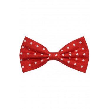 Bow Ties Soprano Ties Soprano Red And White Polka Dot Silk Pre Tied Bow Tie £27.00