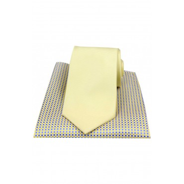 Mix And Match Tie And Hanky Sets Soprano Ties Soprano Plain Yellow Polyester Tie With Neat Silk Hanky £30.00