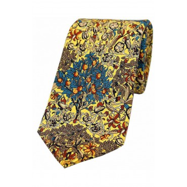 Luxury Ties Soprano Ties Yellow Trees And Leaves Luxury Silk Tie £30.00