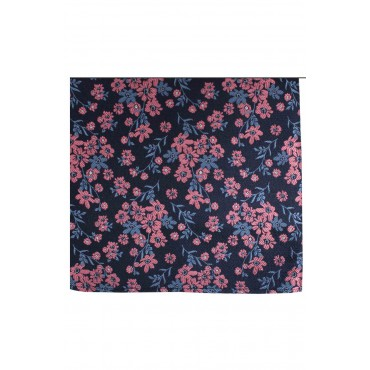 Fashion Handkerchiefs Soprano Ties Soprano Navy Ground Blue And Fuchsia Flowers Silk Hanky £20.00