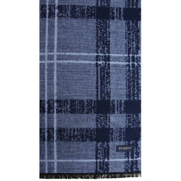 Scarves Soprano Ties Erwin & Morris Navy Blue Check Mens Scarf Supplied In A Gift Box £25.00