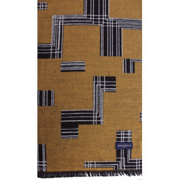 Scarves Soprano Ties Erwin & Morris Mustard Abstract Pattern Scarf Supplied In A Gift Box £25.00
