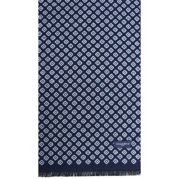 Scarves Soprano Ties Erwin & Morris Navy With Blue Diamonds Scarf Supplied In A Gift Box £25.00