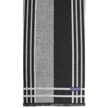 Scarves Soprano Ties Erwin & Morris Grey Black Striped Scarf Supplied In A Gift Box £25.00