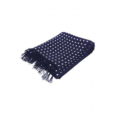 Scarves Soprano Ties Soprano Silk Aviator Scarf Navy Ground With White Polka Dots £49.00