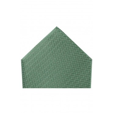 Silk Hankies Soprano Ties Soprano Duck Egg Green Herringbone Silk Hanky-ST-HANKWST7231 £15.00
