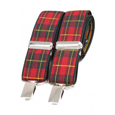 Braces Soprano Ties Soprano Royal Stewart Tartan Patterned 35Mm X Style Braces £23.00