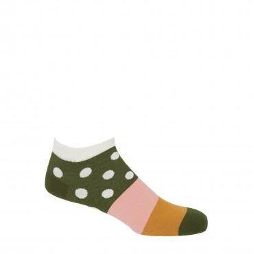 PEPER HAROW PEPER HAROW Mayfair Mens Trainer Socks - Cream £11.00