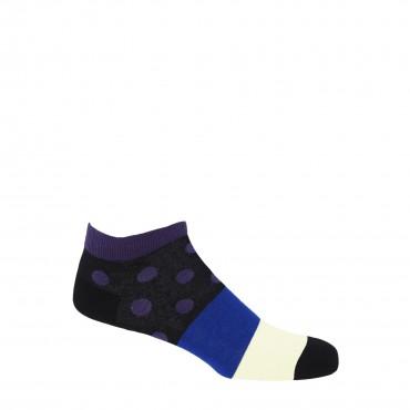 PEPER HAROW PEPER HAROW Mayfair Mens Trainer Socks - Purple £11.00