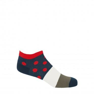 PEPER HAROW PEPER HAROW Mayfair Mens Trainer Socks - Scarlet £11.00