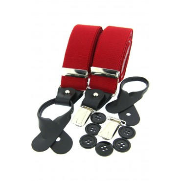 Braces Soprano Ties Soprano Red 35Mm Leather End Braces £28.00