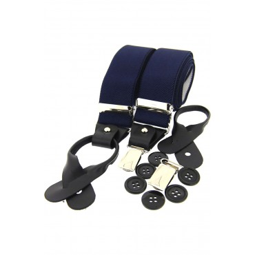 Braces Soprano Ties Soprano Navy 35Mm Leather End Braces £28.00
