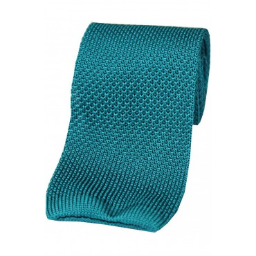 Knitted Ties Soprano Ties Soprano Turquoiseplain Knitted Silk Tie £29.00