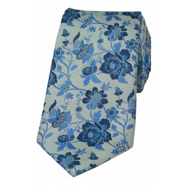Silk Ties Soprano Ties Soprano Duck Egg Blue Floral Luxury Silk Tie £25.00